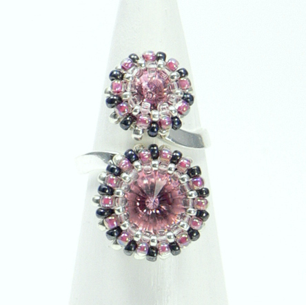 "Ring mit Duo-Stein ""Light rose"""