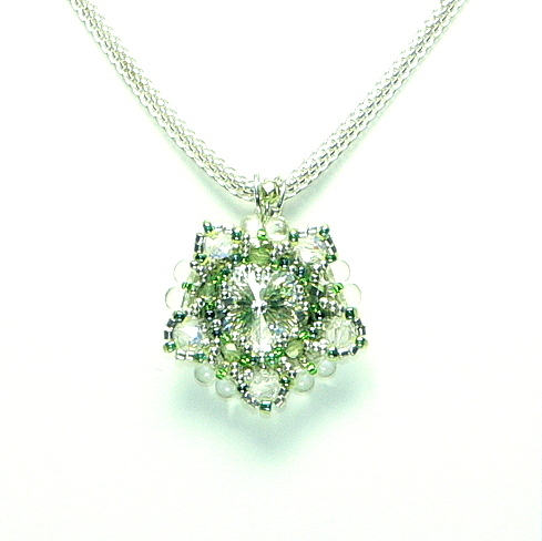 "Kette ""Crystal + Light Green"""
