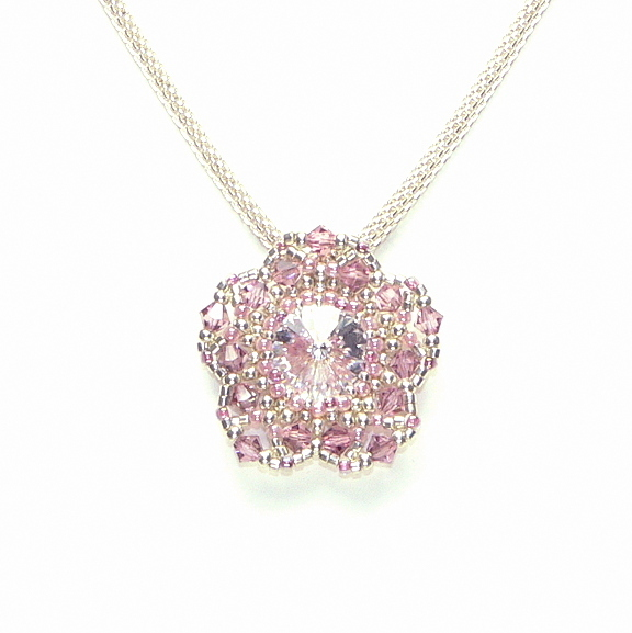 "Kette ""Crystal + Light Rose"""