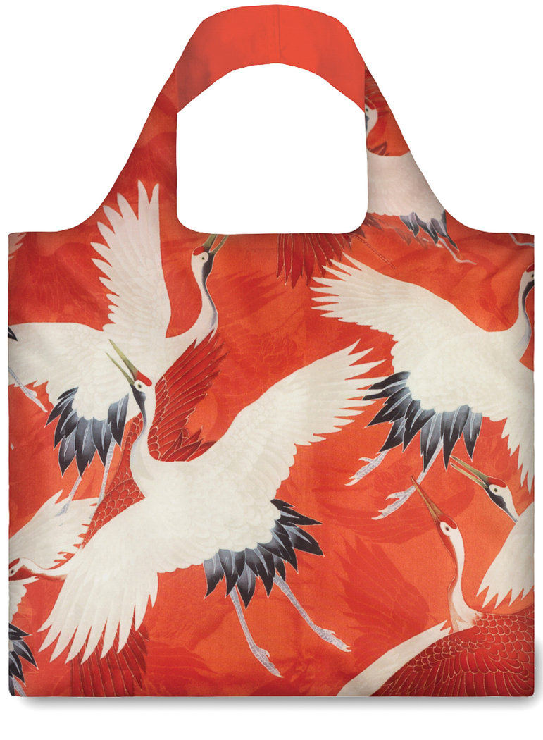"Shopper Kunst-Kollektion ""White and Red Cranes"""